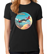 North American P-51 Mustang Ladies T-shirt Historic Fighter Womenand039s Tee - 1600c