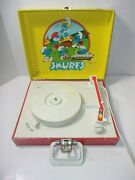 Vintage Toy 1982 Smurfs Toy 45 33 Phonograph Record Player Parts As Is