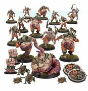 Nurgleand039s Rotters Andndash Unleash The Rot Spawn Painted Figure Blood Bow   Art Level