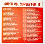 Wcfl Chicago Survey Radio Music Chart February 15 1975 Eagles Barry Manilow Styx