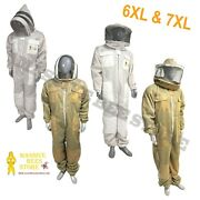 3 Layer Ventilated Suit Round And Fencing Veil Bee Suit Jacket Beekeeper 6xl 7xl