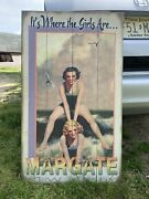 Vintage Margate New Jersey Its Where The Girls Are Painting 21andrdquox39andrdquo Real Wood