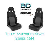 Racing Style Full Seats 80-1614-73 1050 Series Vinyl And Velour For 90 - 91 Accord