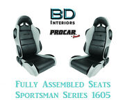Racing Style Full Seats 80-1605-62 1050 Series Vinyl And Velour For 1992 93 Accord