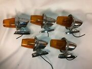 Lot 5 Vintage Amber Cab Lamp Signal-stat Early Truck Van Delivery Marker Light