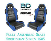 Racing Style Full Seats 80-1605-65 Vinyl And Velour For 1993 - 1995 Honda Civic