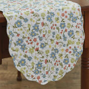 New Shabby Cottage Chic Farmhouse Blue Green Ditsy Floral Daisy Table Runner 36