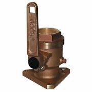 Groco 1-1/2 Bronze Flanged Full Flow Seacock Bv-1500