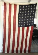 1918 Ww1 48 Star American Flag Battle Of The Marne St Mihiel Meuse Large 5'x8'