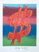Andy Warhol   Dollar Sign 1986. High Quality Lithograph