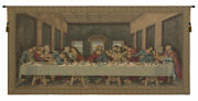 The Last Supper By Da Vinci European Religious Woven Tapestry Wall Hanging New