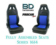 Racing Style Full Seats 80-1614-65 Vinyl And Velour For 2001 - 2005 Honda Civic