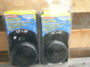 2 New 1/2 X 20and039 Double Braid Black Mfp Dock Lines Floating Boat Mooring Rope