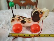 Vintage 1965 An Original Fisher Price Little Snoopy Wooden Puppy Dog Pull Toy