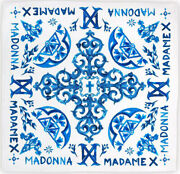 Madonna Blue Tiles Silk Scarf Official Madame X Tour Merchandise New Unopened