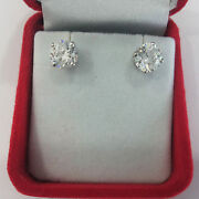 1.00 Ct Solid Certified Real Diamond Earrings 950 Platinum Womenand039s Studs