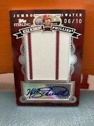 2007 Topps Sterling Jumbo Swatch Mike Schmidt Patch And Auto 'd 10