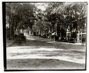 Main Street Nantucket Ma 1895 Delivery Wagons Stores Bank Glass Negative 5x4