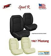 Sport R Seat Upholstery And Sport Foam F/r For 1967 Mustang Fastback Usa Made