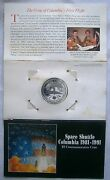 Space Shuttle Columbia 5 Commemorative Coin 1981-1991 Marshall Islands
