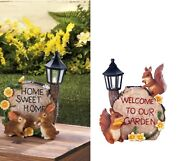 Lamp Post Light Fixture Front Porch Welcome Sign Solar Small Garden Lantern Led