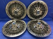 Very Rare Vintage Set Of 4 1967 Ford Mustang 15andrdquo Spoke Hubcaps