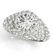 2.00 Carat Round Real Diamond Engagement Rings 14k Fine White Gold Size 5.5 6 7