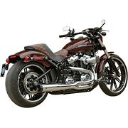 Sands 550-0847b Chrome Superstreet 21 50 State Exhaust System Harley Softail 18-u