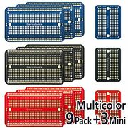 Solderable Breadboard Pcb Board For Arduino And Electronics Projects, 9 Pack +