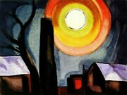 Ascension Painting By Oscar Bluemner Reproduction