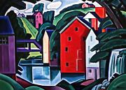 Motive In Space And Form Painting By Oscar Bluemner Reproduction