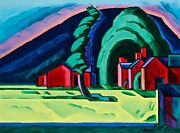 Illusion Of A Prairie New Jersey Painting By Oscar Bluemner Reproduction
