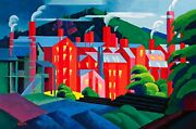 Jersey Silkmills Painting By Oscar Bluemner Reproduction