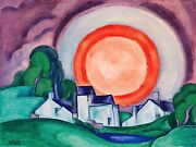 Surprise May Moon Painting By Oscar Bluemner Art Reproduction