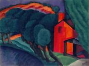 Glowing Night Painting By Oscar Bluemner Art Reproduction