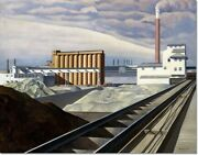 Stretched Canvas - Classic Landscape Painting By Charles Sheeler Reproduction