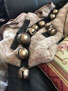 Antique W.b. And H.b. Signed Brass Embossed Horse Sleigh Bells {6}