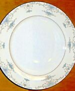 43 Pc Fine China By Fashion Royale Japan Dinnerware Heirloom Blue White Silver