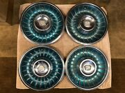 Vintage Cadillac Oem Factory Hubcaps Wheel Covers Set Of 4 - Free Shipping