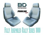 Full Seats 80-1000-52 Reclining Gray Vinyl For 1997 - 2004 Ford Crown Victoria