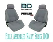 Full Seats 80-1000-62 Reclining Gray Velour For 1997 - 2004 Ford Crown Victoria