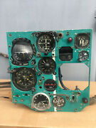 Mig-27 Dashboard Panel Cockpit And Device Russian Soviet Fighter Cabin Pilot