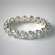 2.00 Carat Round Real Diamond Engagement Rings 14k Solid White Gold Size 6 7 8 9