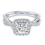 Real Diamond 950 Platinum Womenand039s Engagement Ring Round Cut 1.10 Ct Size 5.5 6 7