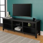 Farmhouse Entertainment Center Tv Stand For 70 Flat Screen With Storage Shelves