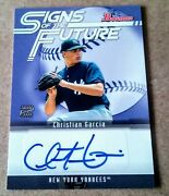 2005 Bowman Signs Of The Future Christian Garcia Rc Rookie Auto Autograph Card