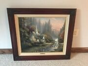 Thomas Kinkade The Forest Chapel Limited Edition P/p Framed Canvas Painting