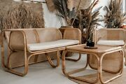 Natural Rattan Set Chairs/table/sofa Outdoor Zorba Furniture Conservatory