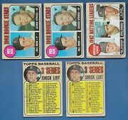 1968 Topps Baseball Boston Red Sox Lot 5 3 Different Cards Good/vg-ex