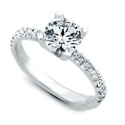 Solitaire Real Diamond Wedding Band Set 950 Platinum Ring 1.10 Ct Size 6 7 8.5